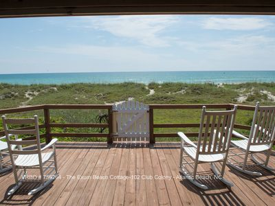 Photo for The Exum Cottage - Beachfront in Atlantic Beach, NC