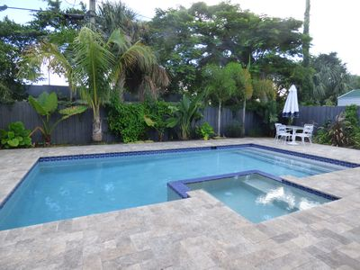 """Photo for Luxury Boutique Villa w/ """"Private"""" Saltwater Pool & Hot Tub in Heart of Delray"""