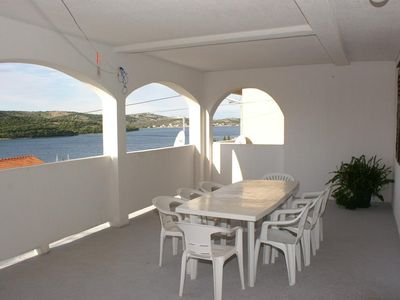 Photo for Three bedroom apartment with terrace and sea view Tisno, Murter (A-814-a)