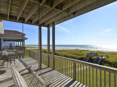 Photo for Bishop's Beach - a BEACHFRONT retreat for the whole family.  Great vacation place with FREE ACTIVITIES provided.
