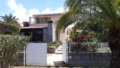Photo for Center Porticcio, air-conditioned villa, terrace with barbecue, garden, beach 800m