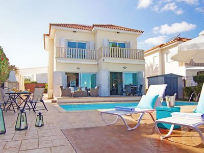Photo for Protaras Holiday Home, Sleeps 6 with Pool, Air Con and WiFi