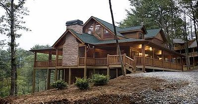 Photo for Luxury Log Home with Outdoor Woodburning fireplace and much more.