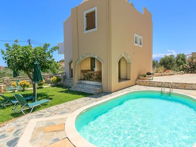 Photo for Villa Neria: Large Private Pool, Sea Views, A/C, WiFi