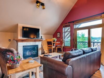 Photo for Downtown condo with vaulted ceilings, views of town & shared amenities