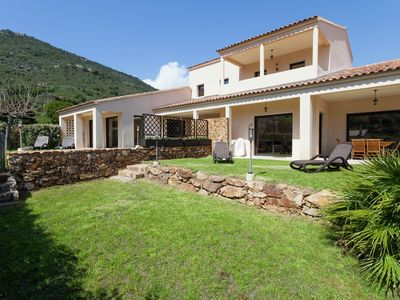 Photo for Charming villa on the heights of Sagone Bay