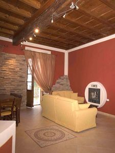 Photo for Very tastefully furnished 3 bedroom apartment in the old town of Cannobio.
