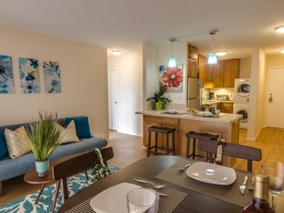 Your Family Friendly Waikiki Monthly Rental - Brand New 2 BR 2 Bath + Kitchen