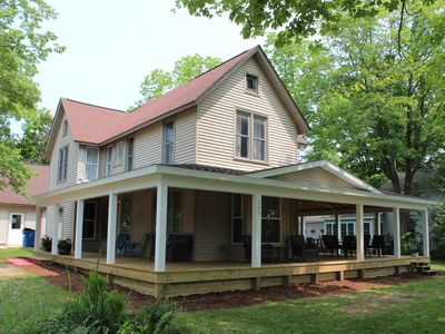 Photo for Relax in your home; yards from the Frankfort Beach and the downtown attractions.