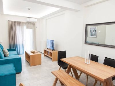Photo for Beautiful apartment with hand made furniture in the centre of Athens