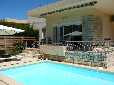 Photo for charming villa between sea and village with pool and garden da ns quiet corner