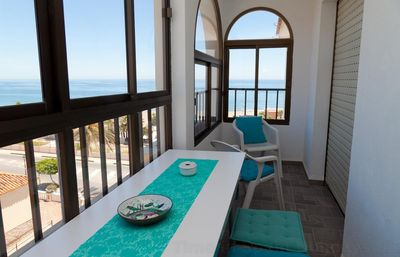 Photo for Modern three bedroom apartment with WIFI & air con, Close to beach, restaurants and Estepona port