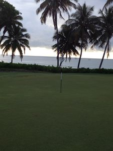 Golf course along the beach.