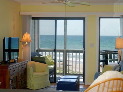 Photo for Beach Chic In Atlantic Beach! - Fully Renovated Ocean Front Condo With Pool!!