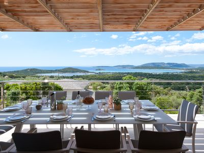 Photo for Villa 5ch, swimming pool, panoramic sea view, Blue Cabanon beach, Porto-Vecchio