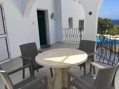 Photo for Villa with private pool, quiet village location, mountain and sea views