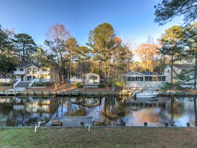 Photo for NEW LISTING! Family-friendly home on canal w/entertainment, dock & free WiFi