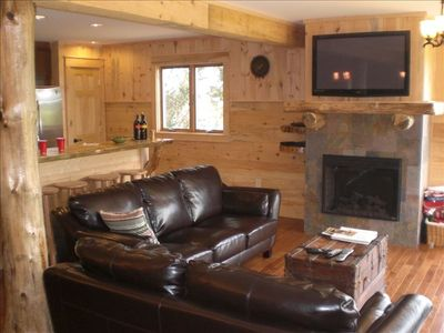 Great room area featuring the view and a 42' television with DVD and Cable