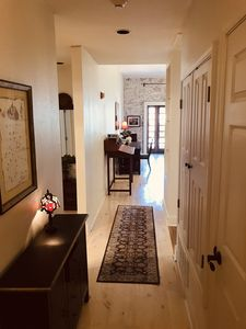 White pine floors greet you in the entry hall