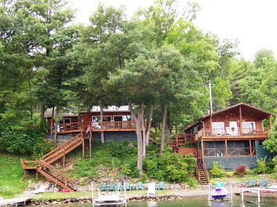 Photo for 2 Side/Side Lakeside Cottages-5 Beds/3 Baths-Sleeps 12-14