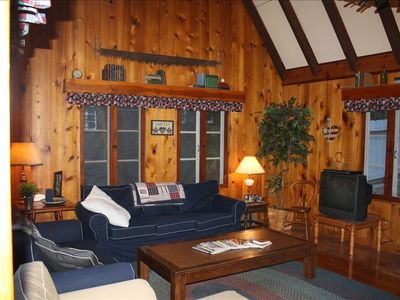 Check out the video of our cabin. Click the 'video' tab above this picture.