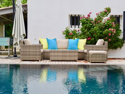 Photo for Standing villa, 5 rooms, heated pool, large garden, air-conditioned,