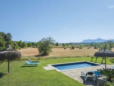 Photo for Ca'l Prior is a recently refurbished, stone Mallorcan countryside villa situated in a quiet location and enjoying wonderful, wide ranging views from the furnished covered terrace that over looks the swimming pool below.