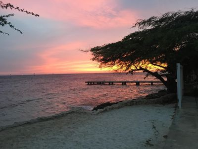 watch the sunset on your own private beach