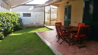 Photo for Elegant villa at 100 mt. from the sea with garden. Ideal for a family
