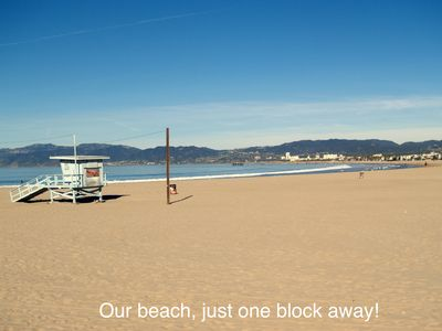 Our beach, just one block away!