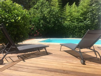 Photo for Beautiful villa of 190 sqm with swimming pool, not overlooked, in lush greenery.