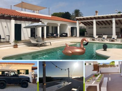 Photo for Perfectly situated super de luxe villa with sea views, roof terrace & bar