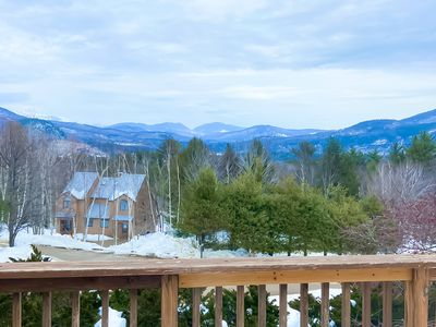 Photo for Beautiful townhome w/ mountain views from the deck & a wood fireplace