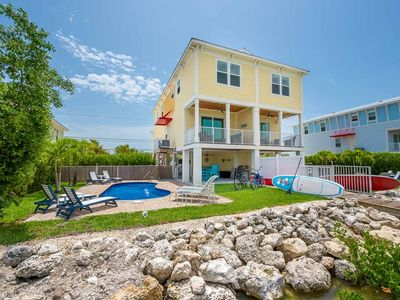 Photo for Flexible Cancellation on Future Bookings! Private Pool-Dock, Canal Front, Beach!