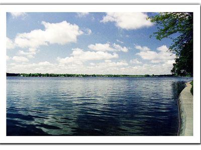 Photo for Wamplers Lake North Shore Lakefront Home with Sandy Beach for Swimming