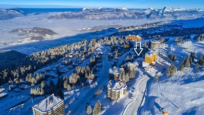 Photo for Nice studio suitable for a disabled person, for 4 people just 250 meters from the ski slopes and 300