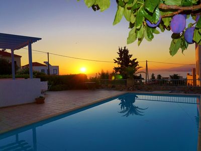 Photo for Villa Kefalas ★ Private Pool★Sea View ★ Near Vamos &Almyrida&Georgioupolis