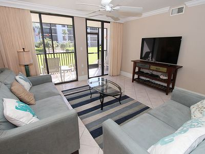 Photo for Gulf & Courtyard View, Ground Level One Bedroom Condo - Sundial G104