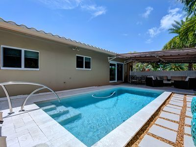 Photo for Your Own Oasis with Heated Salt Water Pool!  1.5 Miles to the Beach!
