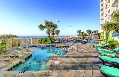 Photo for Two Bedroom Deluxe Ocean Front Luxury Condo, Myrtle Beach, SC (1730171)