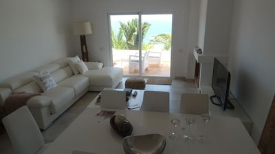 Photo for front house has refurbished modern sea with gorgeous sea views, access dir