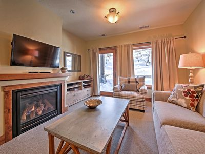 Photo for Chic Whitefish Resort Chalet w/Patio -Walk to Mtn!
