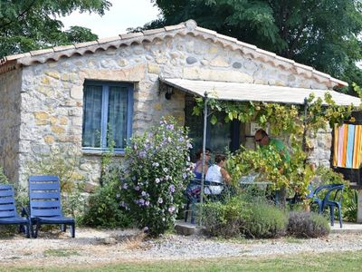 Photo for Pretty little Maissonette (n ° 18) in stones with terrace, bbq, access swimming pool