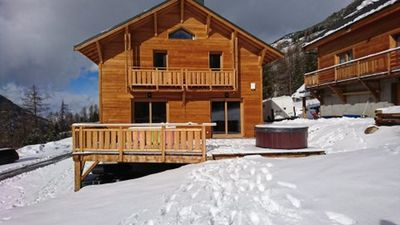 Photo for Chalet Vars Ski / Indoor Pool Outdoor Jacuzzi & Movie Theater