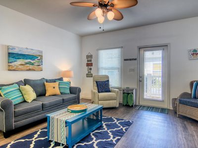 Photo for NEW LISTING! Bright dog-friendly townhome w/ patio, shared pool, near the beach