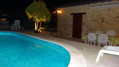 Photo for Stone house renovated by the owners with unheated pool