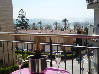 Photo for Apartment with pool 50 meters from the sea, Barcelona