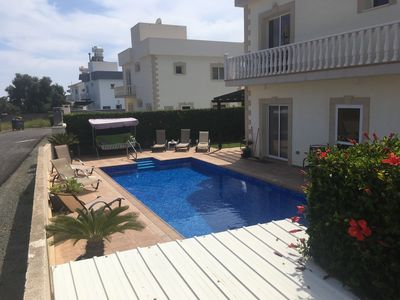 Photo for 3 Bed Villa Nr Nissi Beach & Sandy Bay. Private Pool, Sea Views, FREE WiFi/UK TV