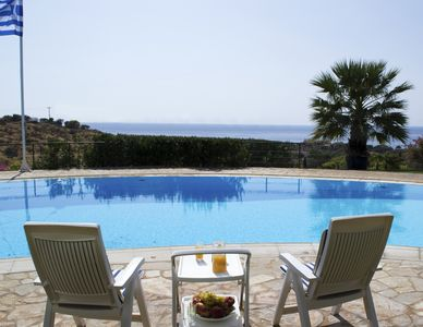 Photo for VILLA ELENI - Breathtaking views of most gorgeous beach of Athens
