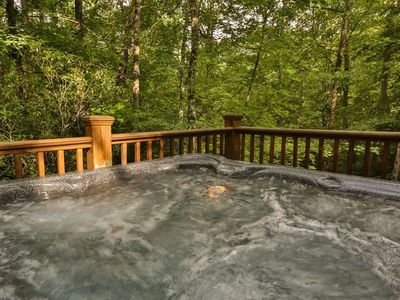 Photo for Tranquility awaits at Laurel Creek! A chink style log cabin nestled in the Cohutta Mountains. Pet-fr